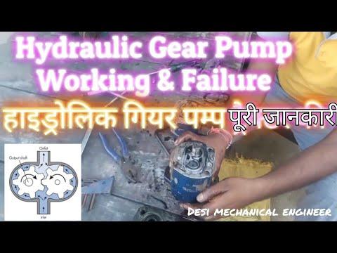 Hydraulic Gear Pump working & Failure reason simply Explanation in Hindi