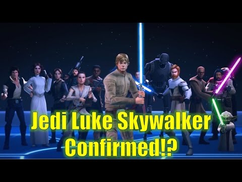 Star Wars Galaxy of Heroes: Jedi Luke Skywalker!? Two Fan Favorite Characters Coming to the Game!!