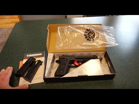 Taurus PT92  Unboxing and cleaning.  Meet my new range gun!