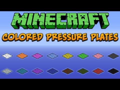 Minecraft: Colored Pressure Plates Tutorial