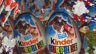 Full Set Transformers Kinder Surprise Eggs Opening - 24 New Eggs