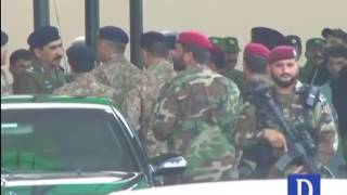 Army Chief General Qamar Javed Bajwa  arrival and departure from  General Hospital Lahore