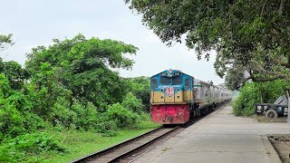 Fastest Rangpur Express Train passing Dilpashar Railway Station, Chalan Beel || Bangladesh Railway