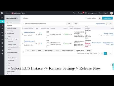 alibaba cloud how to terminate ecs instance
