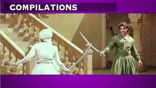 Aishwarya Rai and Hrithik Roshan sword fight.