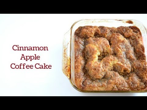 Apple Cinnamon Coffee Cake, Dairy Free and Egg Free Options