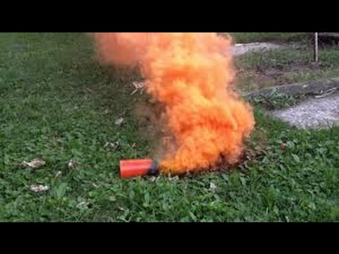 AWOR Airsoft Awesome smoke grenades and a small fire