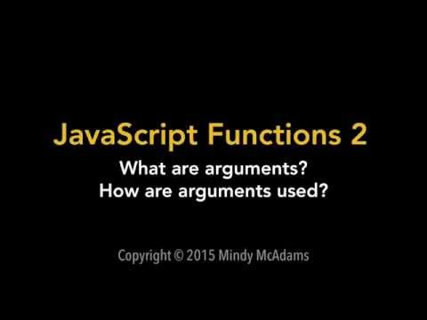 Intro to Web Apps - JavaScript Functions 2