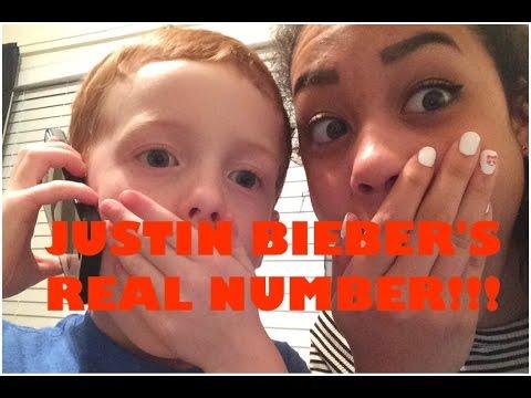 JUSTIN BIEBER'S REAL NUMBER!!!