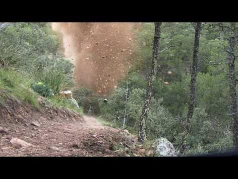Blasting on Emory Peak Trail, Big Bend National Park, Texas