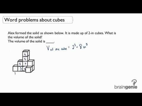 4.2.1 Word Problems about cubes-volume of solid