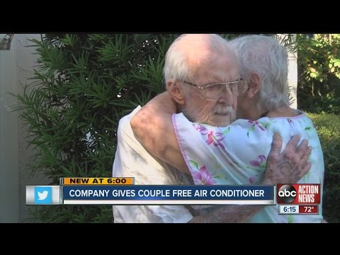 Company gives couple free air conditioner