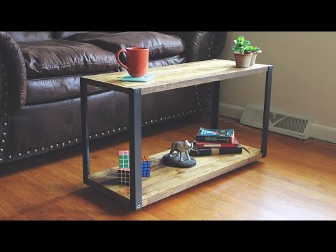 Modern DIY Coffee Table with Aluminum Legs