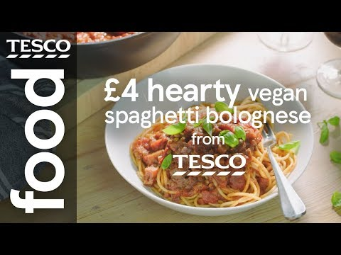 £4 hearty vegan spaghetti bolognese | Tesco Food