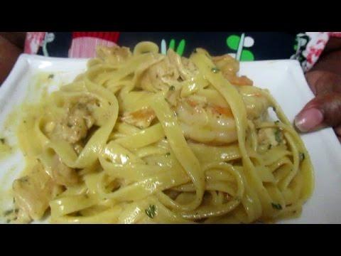 How To Make Cajun Chicken & Shrimp Alfredo