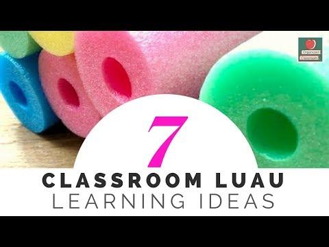 Pool Noodle Classroom Luau Learning Ideas
