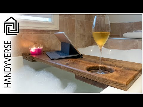 Up Your Relaxation Game With This Simple, Pallet Board Bath Caddy : EP 020