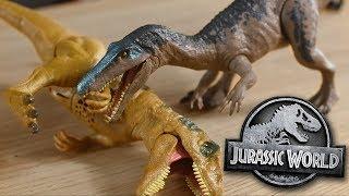 "Baryonyx VS Metriacanthosaurus!!! ""Roaravores""- Mattel Review and Unboxing"