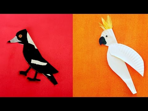 Kids Craft project: Paper Plate Birds