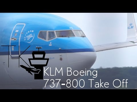 KLM Boeing 737-800 Close Up Taxi + Take Off at Berlin Tegel Airport (TXL)