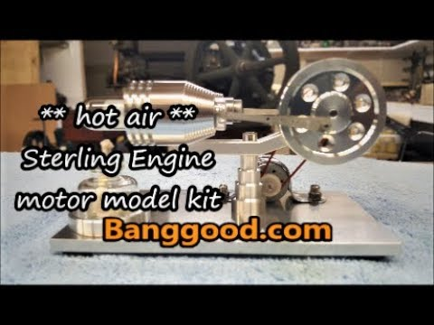 Stirling Hot Air Engine Motor Model review running