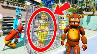 """SENDING CHICA TO JAIL! YOU""""LL BE MAD AT HER (GTA 5 Mods For Kids FNAF Funny Moments)"""