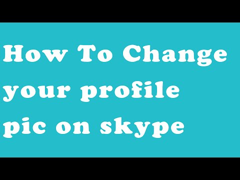 how to change profile picture of skype