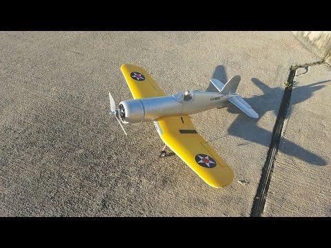 FMS Mini Yellow F4U Corsair RC Warbird Airplane