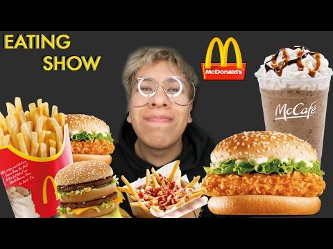 MUKBANG (eating show) MCDONALDS MCcHIKEN, CHEESEBURGERS, FRIES AND SHAKE