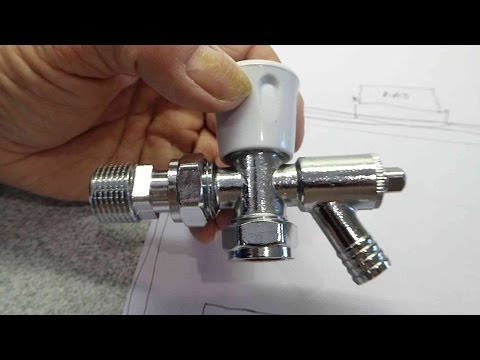 How to fit a radiator valve with a drain off cock