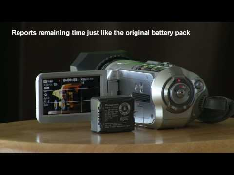Replacement battery packs for Panasonic camcorders