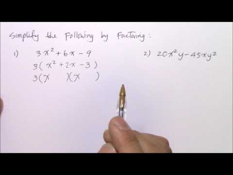 How to Simplify Quadratic Expressions by Factoring