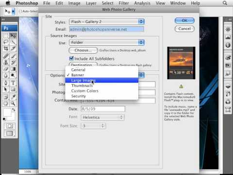 Learn Photoshop - How to Create a Web Photo Gallery