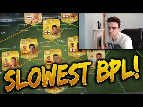 FIFA 15 - THE SLOWEST BPL TEAM!!! Fifa 15 Squad Builder Challenge