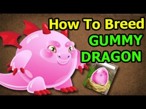 How To Breed GUMMY DRAGON  in Dragon City on Facebook EASY