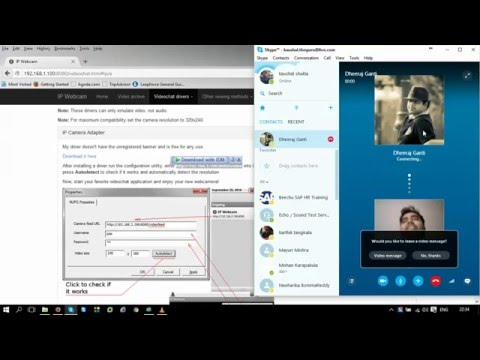 Android phone as web cam(Part 2)-Skype CAM