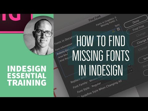 How to find missing fonts in InDesign - InDesign Essential Training [22/76]
