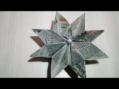 Diy/How to make newspaper flower | newspaper | paper flower