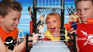 WWE Wrekkin Performance Center! Ninja Kidz