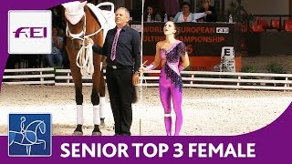 Top 3 Female (Senior) | World Championships Vaulting 2016 | Le Mans
