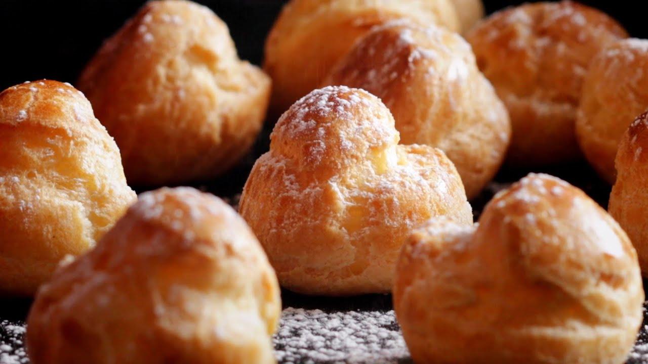 Easy Cream Puffs With Pastry Cream Recipe!