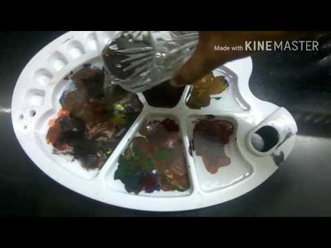 How to clean dried up acrylic paint off plastic palette (overnight)