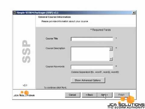Using Simple SCORM packager with Flash (SCORM 2004)