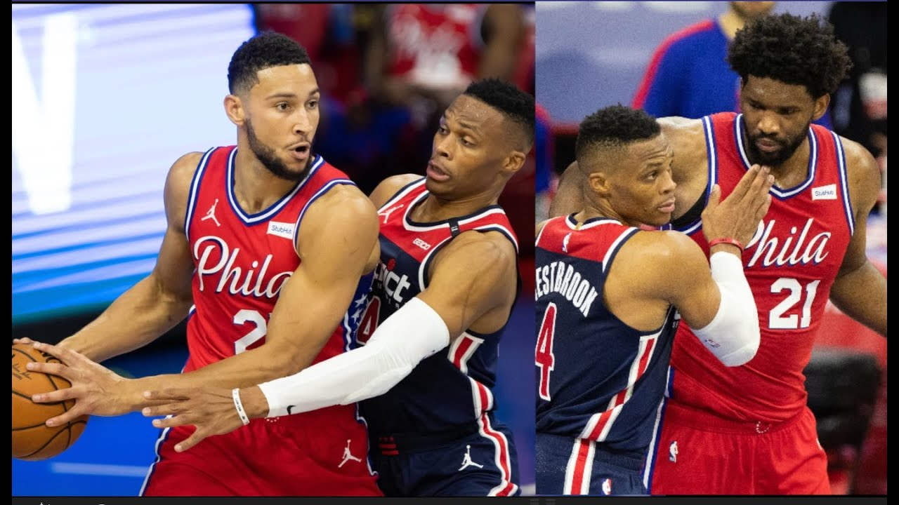 Russell Westbrook Drops Ben Simmons But Joel Embiid Isnt Going For It! 76ers Vs Wizards| FERRO