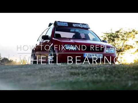 How to remove / fix / replace wheel bearing mk4 Volkswagen Jetta