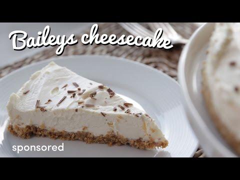 Delicious Creamy Baileys Cheesecake |  Crumbs & Baileys
