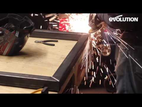 Evolution Rage3 Mitre Saw / Miter Saw: How to Make steel hand rails!