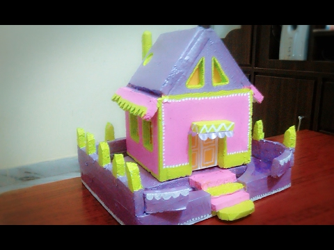 How To Make Simple Thermocol house: Thermocol Carft