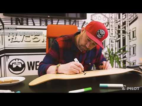 How to make custom skateboard deck designs using Pilot Pintor Marker Pens