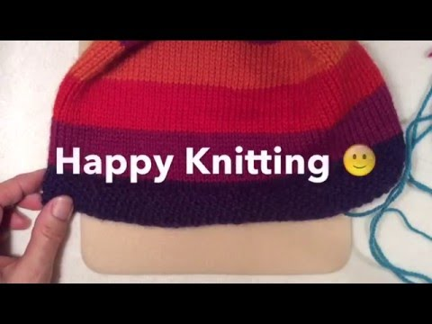 How to Knit Moss Stitch in the Round | How to knit Moss Stitch on Round Needles